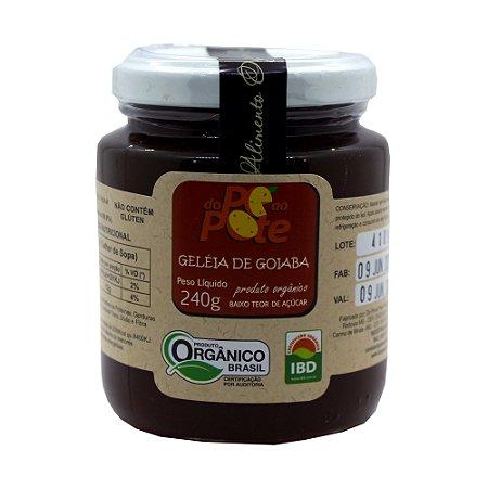 Geleia de Goiaba Orgânica 240g com Açúcar Sem Glúten Sem Lactose Do Pé ao Pote