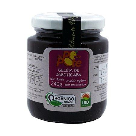 Geleia de Jabuticaba Orgânica 240g com Açúcar Sem Glúten Sem Lactose Do Pé ao Pote