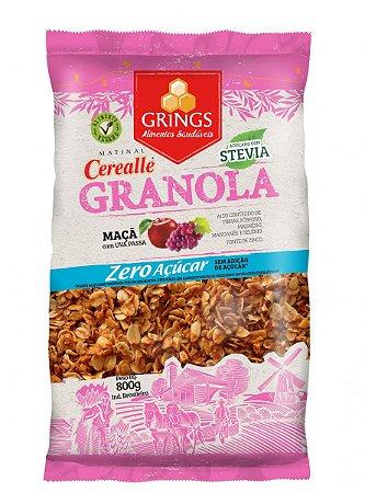 Cerealle Granola Zero Açúcar Adoçado com Stevia Vegano 800g Grings Alimentos