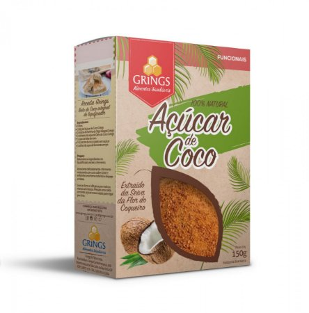 Açúcar de Coco 150g 100% Natural Grings Alimentos