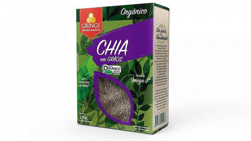 Chia Orgânica 150g com Ômegas 3 e 6 Grings Alimentos