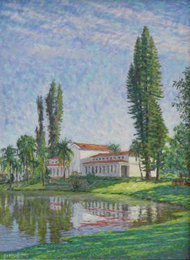 Obra Parque de São Lourenço 54 x 40 Atelier de Pintura Jonas Lemes Cód. ref. 716