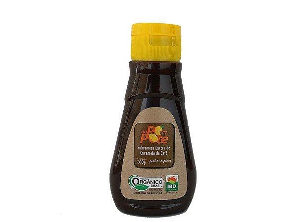 Calda de Caramelo de Café Orgânico 200g com Açúcar (Sobremesa Láctea de Caramelo de Café) com Açúcar Orgânico Sem Glúten Do Pé ao Pote