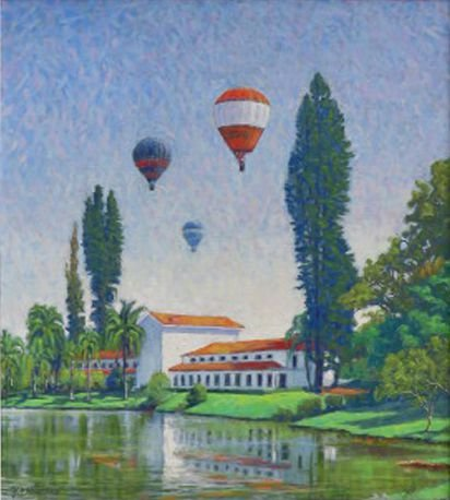Obra Balões 50 x 45 Atelier de Pintura Jonas Lemes Cód. ref. 514