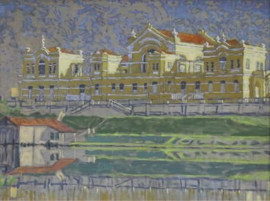 Obra Alvorecer 30 x 40 Atelier de Pintura Jonas Lemes Cód. ref. 669