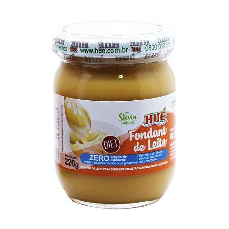 Fondant de Leite Puro (Doce de Leite) Diet Hué (Sem Adição de Açúcares) Sem Glúten Pote 220g