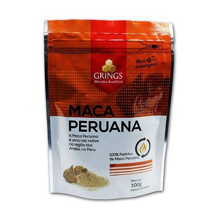 Maca Peruana 100g Baixa Calorias 100% Pura Grings Alimentos