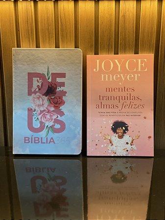 Bíblia 365   NVT   Letra Normal   Capa Dura + Mentes Tranquilas, Almas Felizes   Joyce Meyer