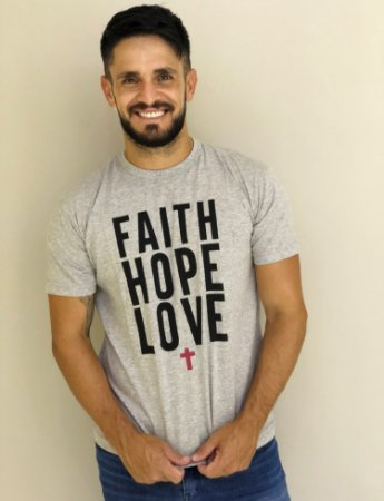Camiseta Faith Love Hope