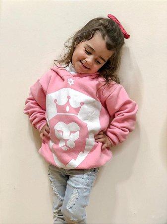 Moletom Geração Jubilar Rosa Kids