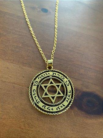 Colar com Pingente Hebraico Estrela de DAVI