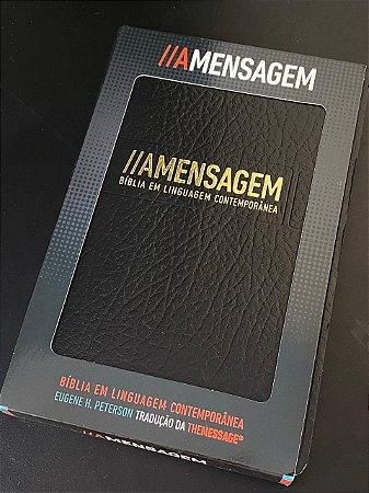 Bíblia A Mensagem   Luxo    Capa Preta