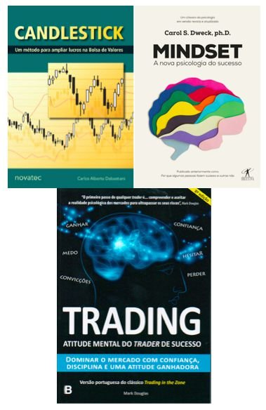 COMBO Trading in the Zone + Mindset A Nova Psicologia do Sucesso + Candlestick