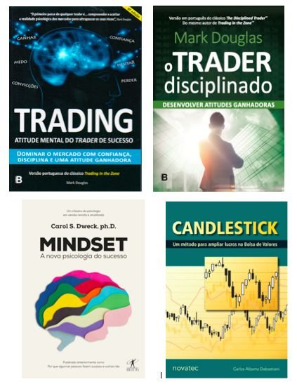 Combo Disciplina: Trading + Trader Disciplinado + Mindset + Cancdlestick