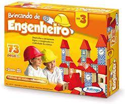 Brinquedo Brincando de Engenheiro 73 Peças - Xalingo