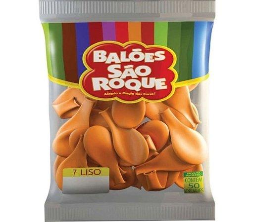 Balão 7 Liso C/ 50 Laranja Mandarim - São Roque