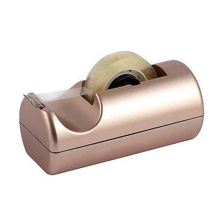 Dispensador De Fitas Pequeno Metalizado Rosê - Waleu