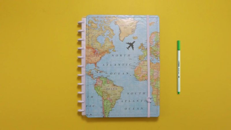 Caderno By Gocase Mapa Mundi Grande - Caderno Inteligente