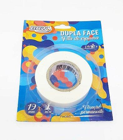 Fita Adesiva Dupla Face Espuma 19mmX2m - BRW