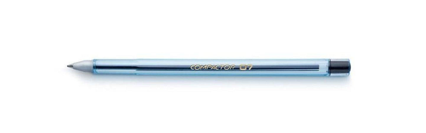 Caneta Esferográfica 0,7mm Preta - Compactor