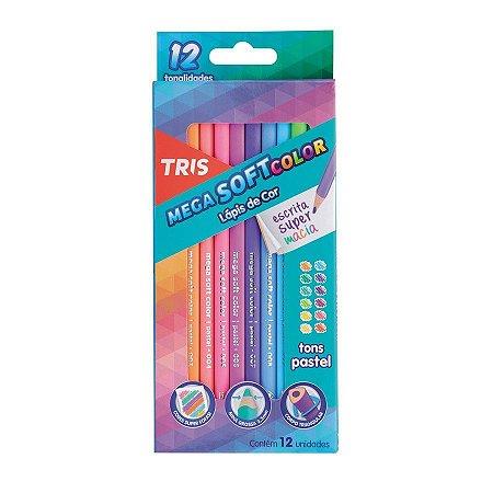 Lapis Cor Tris Tons Pastel 12 Cores