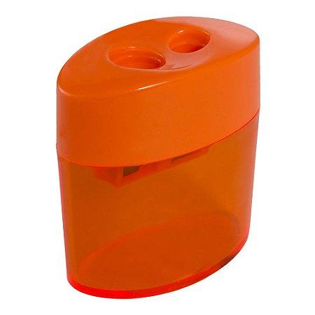 Apontador Plastico C/Deposito Duplo Oval