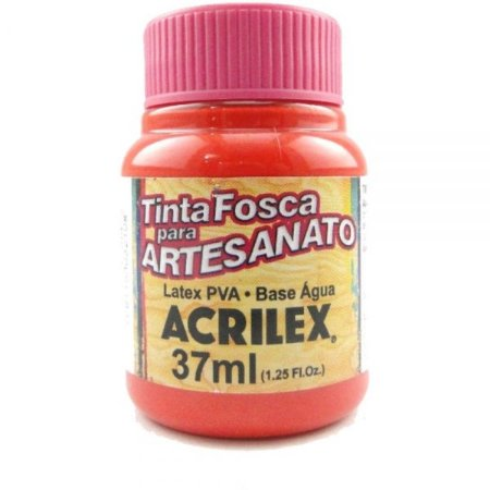 Tinta Fosca PVA Artesanato Vermelho Fogo 37ml  - Acrilex