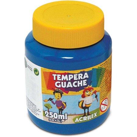Tinta Guache Azul Turquesa  250 ml - Acrilex