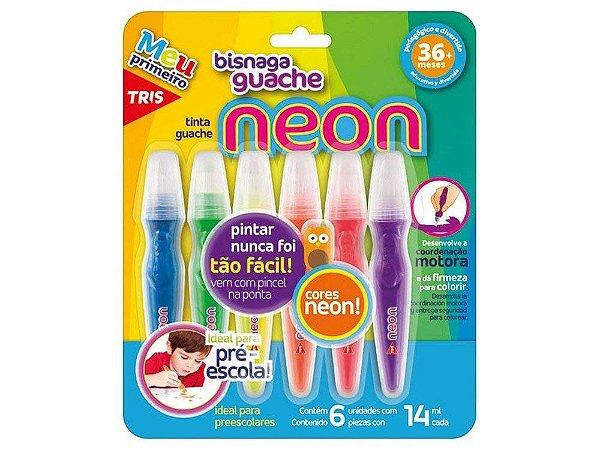 Tinta Guache Bisnaga Neon - Tris
