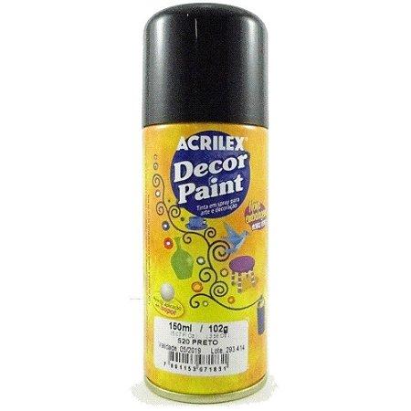 Tinta Em Spray Decor Paint Preto - Acrilex