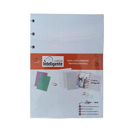 Refil  A5 Folhas Pontilhado - Caderno inteligente
