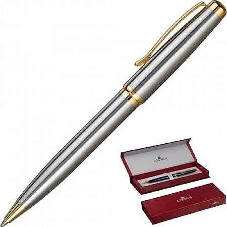 Caneta Esferográfica Prata com Dourado Belíssima-Crown