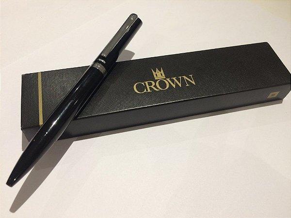 Caneta Esferográfica Platinum Preto-Crown