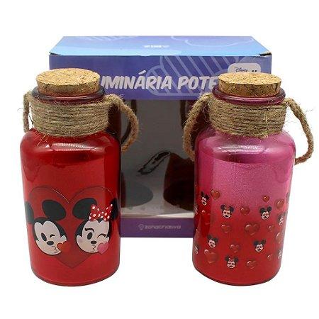 Kit Com 2 Luminárias Mickey e Minnie Emoji - Zona Criativa