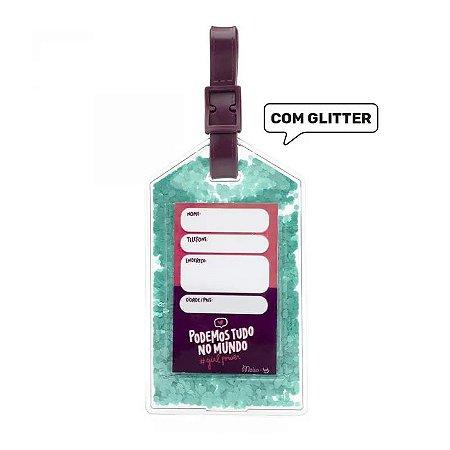 Tag De Mala Com Glitter Maisa - Ludi