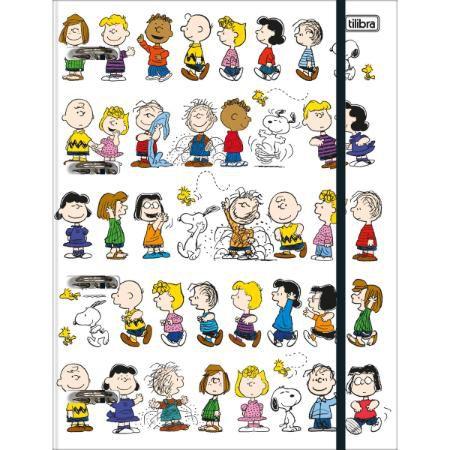 Caderno Argolado Com Elástico Snoopy - Tilibra