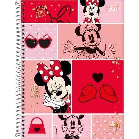 Caderno Universitário Minnie 12 Matérias - Tilibra