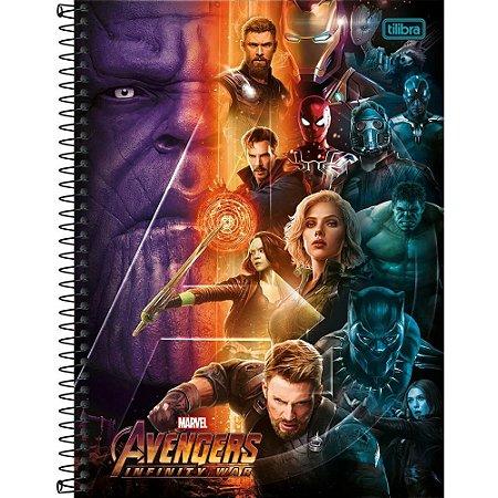 Caderno Universitário Avengers Infinity War 12M - Tilibra
