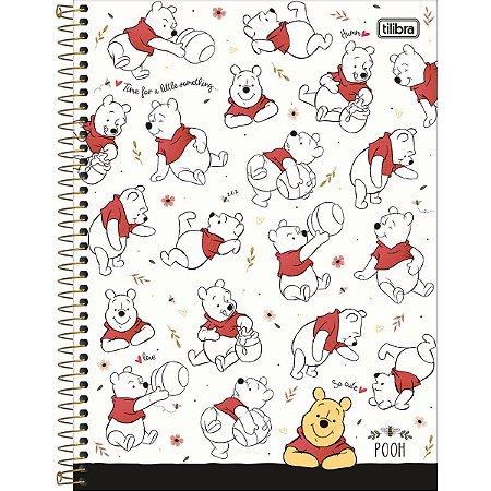 Caderno Universitário Pooh 10 Matérias - Tilibra