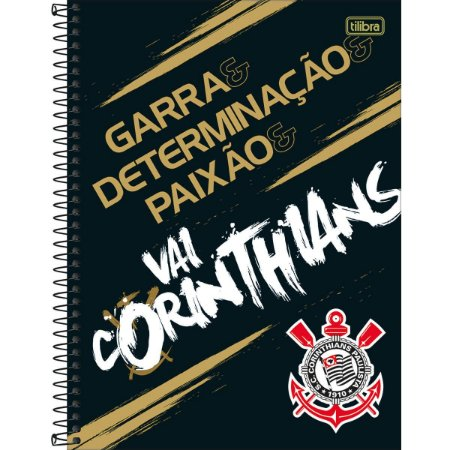 Caderno Universitário Corinthians 10 Matéria - Tilibra