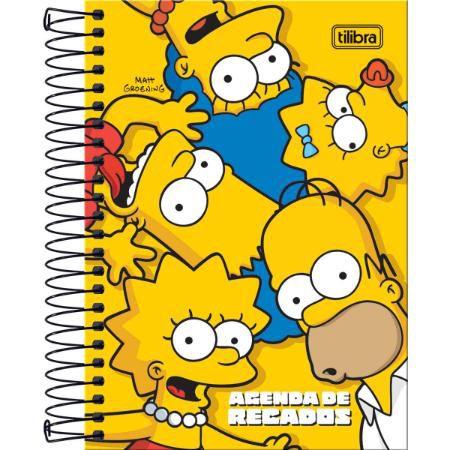 Agenda Espiral Recado Simpsons - Tilibra