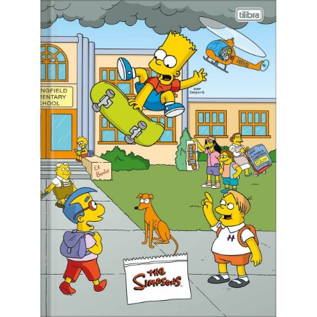 Caderno Brochura Universitario Simpsons 48F - Tilibra