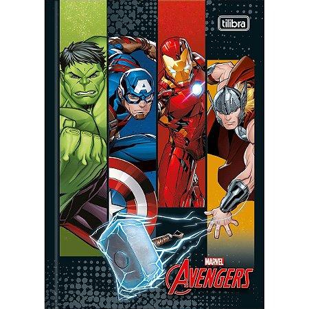 Caderno Brochura 1/4 Avengers  48F - Tilibra