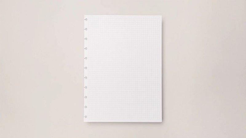 Refil  Quadriculado - A5 - Caderno inteligente