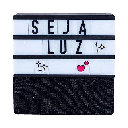 Speaker Led Letras  Preto - Uatt