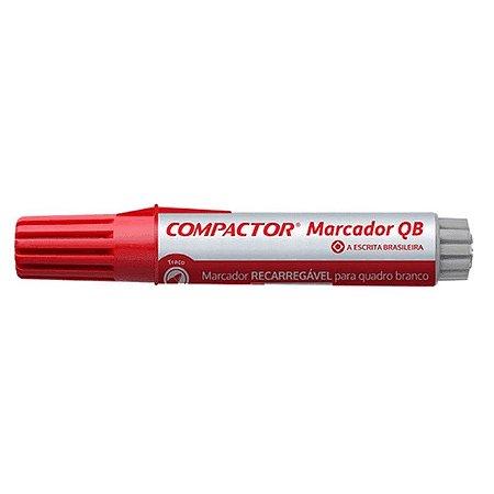 Marcador Quadro Branco Vermelho - Compactor