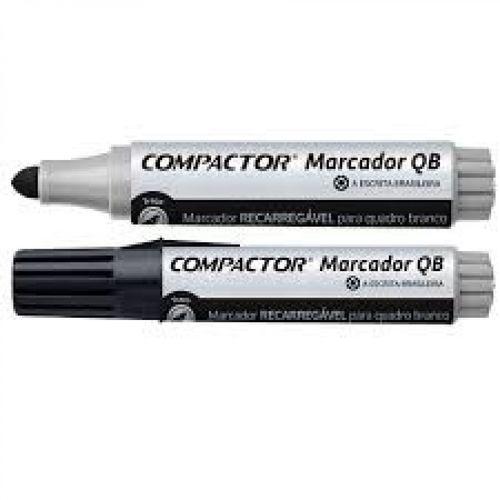 Marcador Quadro Branco Preto - Compactor