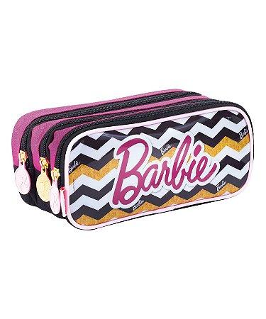 Estojo 3 Compartimentos Barbie 19z Colorido - Sestini
