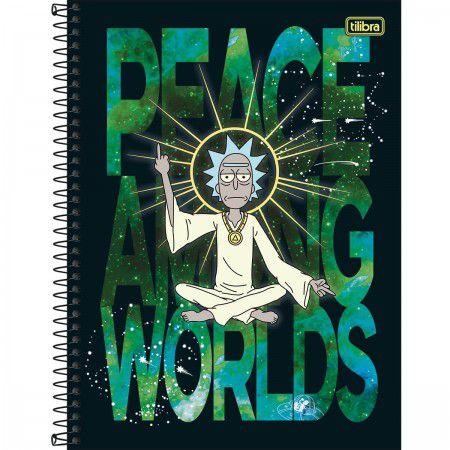 Caderno Universitário Espiral Rick Morty - Tilibra