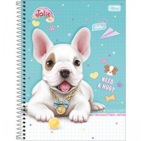 Caderno Universitário Espiral Jolie Pet 10 Matéria - Tilibra